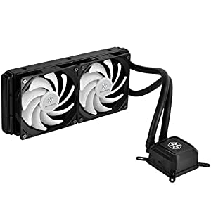 SilverStone Technology All-In-One Liquid CPU Cooler with Dual Adjustable 120mm PWM Fan TD02-LITE