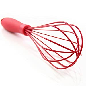 Latest 2-pc Balloon Whisk Set - Multi Function 11-inch And 8-inch Silicone Wire Kitchen Whisks That Never Scratch Nonstick Pans Unlike Stainless Steel Kitchen Tools
