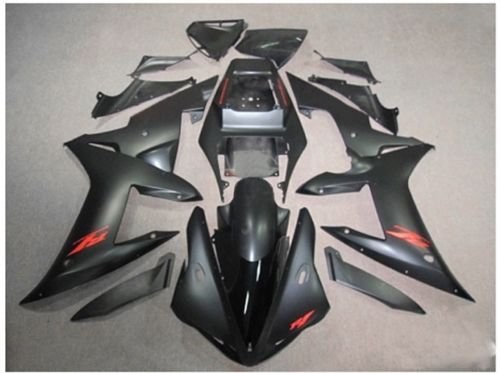 Flat Matte Black Fairing Bodywork Aftermarket Painted ABS plastic Injection Molding Kit for 2002-2003 02-03 Yamaha Yzf R1