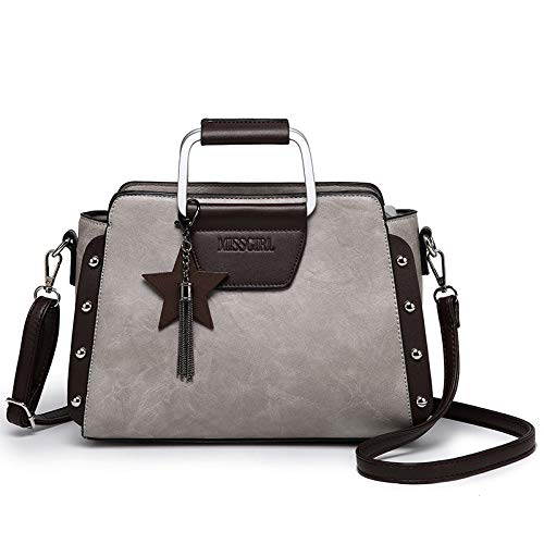 Casual Shoulder Bag Vintage Business Handbag Fashion Women Bag Messenger Bag Gray fIxHqdg