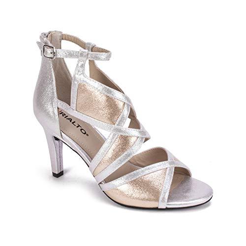 RIALTO Shoes RIA Women's Heel, Silver/Gold/Multi/MET.SM, 9 - Multi Heels Gold