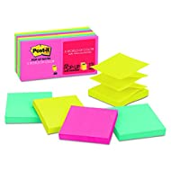 Post-it Pop-up Notes, 3 in x 3 in, Cape Town Collection, 12 Pads/Pack, 100 Sheets/Pad