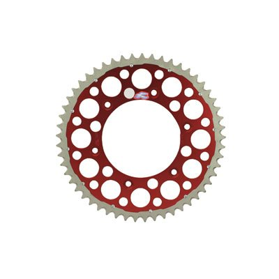 Renthal TwinRing Rear Sprocket 49 Tooth Red for Honda CRF250R ()