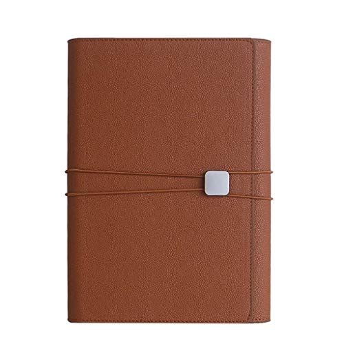 Red red Shop A5 Loose-Leaf Imitation Leather Notebook Office Meeting Commemorative Business Gift Metal Buckle Notepad (Color : I)