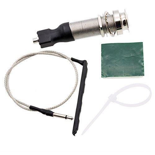 Piezo Under Saddle - ASCENDAS 6.35MM Endpin Output Jack With Passive Piezo Cable Under-Saddle Pickup Stick (For UKulele)