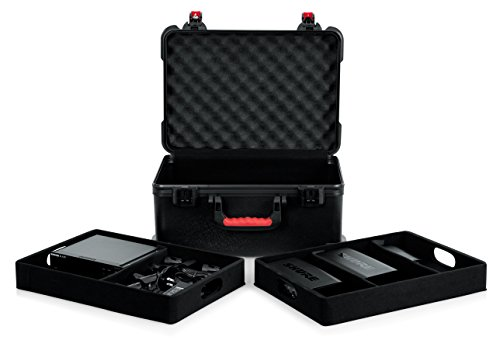 (Gator Cases Molded Flight Case for (7) Wireless Microphones and Accessories with TSA Approved Locking Latch; (GTSA-MICW7) )