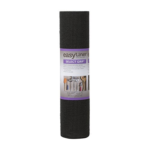 Duck Brand Select Grip Easy Liner Non-Adhesive Shelf Liner, 20 in. x 24 ft., Black (281876)