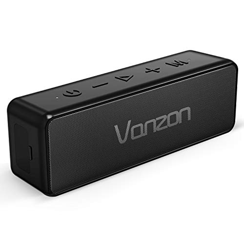 Vanzon X5 Pro Bluetooth Speakers – Portable Wireless Speaker V5.0 with 20W Loud Stereo Sound, TWS, IPX7 Waterproof & 24H Playtime, Extra Bass Perfect for Travel, Home and Outdoors