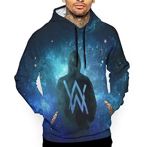 TSGZOE43 Walker Men's Jacket Sweatshirt Original Design Hoodie Full Zip Zipper Coat Sweater with Kangaroo Pocket Tops S