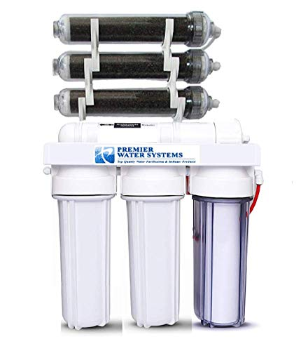 7 Stage RO/DI AQUARIUM REEF REVERSE OSMOSIS Deionization System 75 GPD USA 0ppm from Premier Water Systems