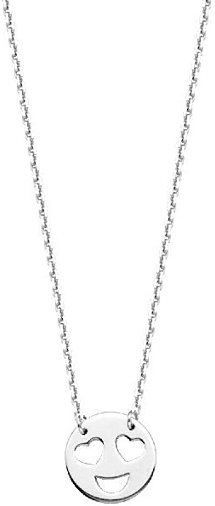 Necklace Sterling Silver Cubic Zirconia InitialE Adj
