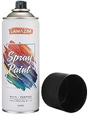 Lawazim Multi Purpose Spray Paint- 4 Matt Black Spray Paint