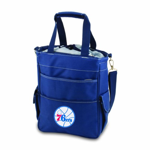 PICNIC TIME NBA Philadelphia 76ers Insulated Activo Cooler Tote, Navy by PICNIC TIME