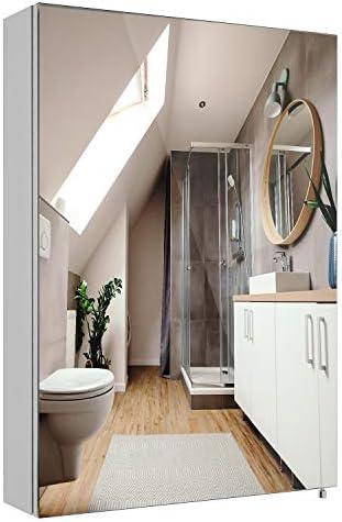 Homfa Bathroom Mirror Cabinet