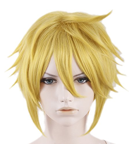 (Xcoser Handsome Short Yellow Link Cosplay Wig For Cosplay Costume)