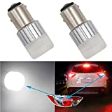 HSUN 1157 BAY15D P21/5W LED Light Bulbs,10V-60V Wide Voltage Extremely Bright HP1860 2400LM For Car Backup Reverse Brake Turning Switchback Light and More,2 Pack,6000K White