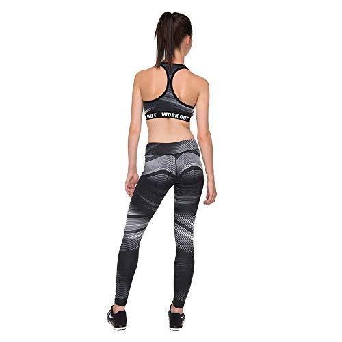 Chándal Estampado Battercake Yoga Pantalones Alta Rayas Con Elásticos Leggings Casuales Para De Legging Negro Moda Mujeres Cintura Mujer wqZrwpBv