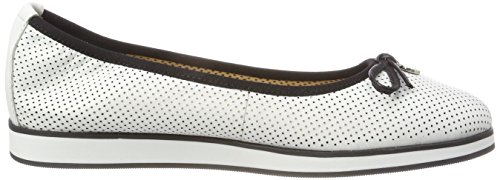 Caprice 102 White 22125 Blanco para Bailarinas Mujer Nappa rwxHZrSfq