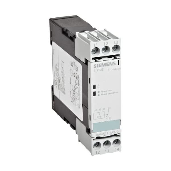 Siemens 3UG4512-1AR20 Monitoring Relay, Three Phase Voltage, Insulation Monitoring, 22.5mm Width, Screw Terminal, 1 CO Contacts, Delay Time, 160-690 Line Supply Voltage
