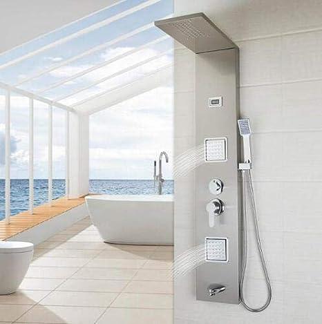 Shower system Baño de Acero Inoxidable Columna de Ducha Montado en ...