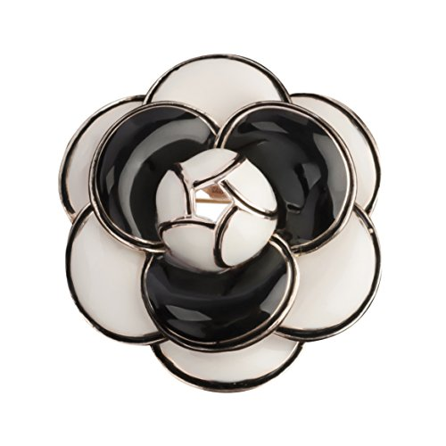 MISASHA Camellia Black Fashion Brooch