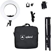 Upland Camera Photo,Video Lighting Kit, Dimmable LED Ring Light(Including Light Stand), 18Outer 55W 5500K, Bluetooth Receiver for Smartphone