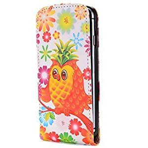 DK_Pineapple Style Owl Fashion Vertical Style Magnetic Flip PC+PU Leather Case for iPhone 6
