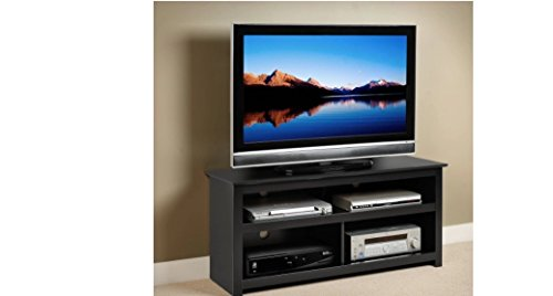 Black Entertainment Center Tv Stand Console for Flat Screens , Plasma and Other Brands. A Great Console. Sale. Easy Blends with Other Furniture Made of Wood. A High Quality Console (Lcd Plasma Tv Console)