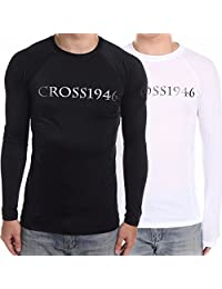 Men's Compression Rash Guard Long Sleeve SPF40 UV Protection Top S-XXXL