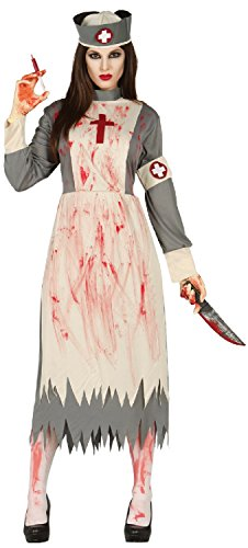 Adult Ladies Vintage Corpse Nurse Dead Zombie Halloween Horror Scary Fancy Dress Costume Outfit (UK ()