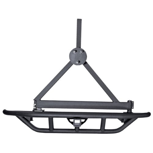 Tire A-frame Carrier (Rugged Ridge 11503.60 RRC Black Tire Carrier Only)