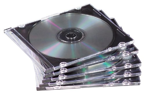 50-pack Slim Jewel Cases- Black Holds One CD/DVD And Booklet (Discontinued by (Cd / Dvd Black Jewel)
