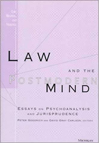 com law and the postmodern mind essays on psychoanalysis  law and the postmodern mind essays on psychoanalysis and jurisprudence law meaning and violence