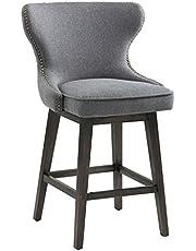 Sunpan Modern 101153 5West Counter Stools, Dark Grey Fabric