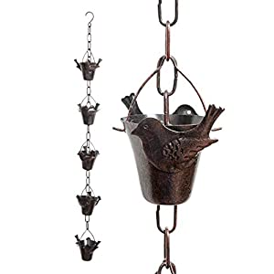Iron Bird Decorative Rain Chain for Gutters
