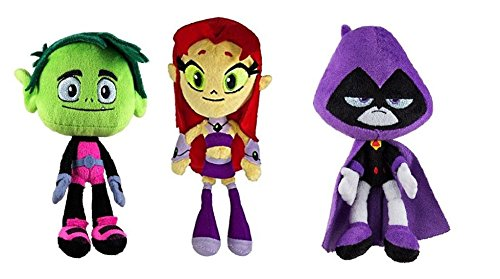 Teen Titans Toys Stuff : Teen titans go quot plush doll set beast boy starfire and