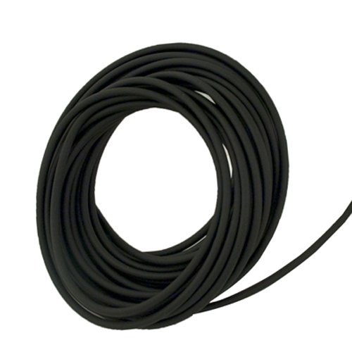 Super-Soft Black Opaque Latex Rubber Tubing for Air and Water - Inner Diameter 3/4'' - Outer Diameter 1-1/8'' - 10 ft
