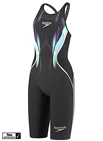 2359a0f59a4 Speedo LZR Racer X Bali Closed Back Swim Suit – Black/Blue/Neon Green