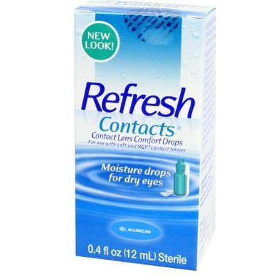 Refresh Contacts Contact Lens Comfort Drops -- 0.4 fl oz Pack of 6 (Refresh Contacts)