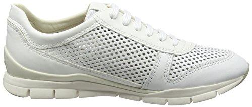 F white Para Blanco Zapatillas Sukie D Mujer Geox 0UwnZx6n