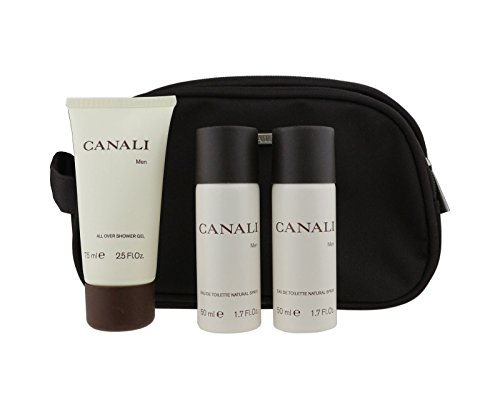 Canali for Men Gift Set - 3.4 oz EDT Spray + 2.5 oz Shower Gel + Deluxe ()