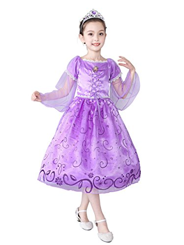 Dressy Daisy Girls' Halloween Princess Rapunzel Costume Fairy Tales Party Dress Size 8 ()