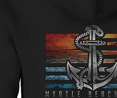 Zip Up Hoodie Myrtle Beach SC Boat Hooded Sweatshirt for Men