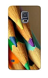 Improviselike Top Quality Case Cover For Galaxy S5 Case With Nice Colorful Pencils Appearance