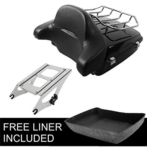 TCMT Chopped Tour Pak Pack Trunk Backrest Two Up Rack Fits For Harley Touring 2014-2019