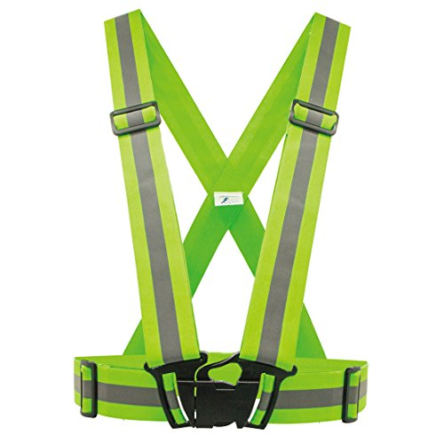 GMVPlus Reflective Vest for High Visibility All Day and Night.For Running, Cycling, Dog-Walking, Car Safety, Highway Emergencies, Motorcycling and Horse Riding.Adjustable Waist. (Green, One Size)