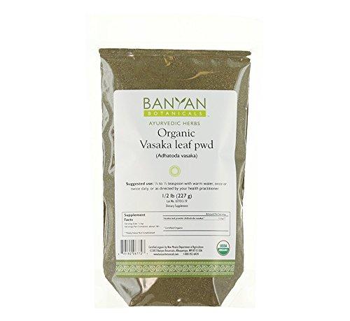 Banyan Botanicals Vasaka Powder - Certified Organic, 1/2 Pound - Adhatoda vasica - Supports proper function of the lungs and healthy respiration* by Banyan Botanicals