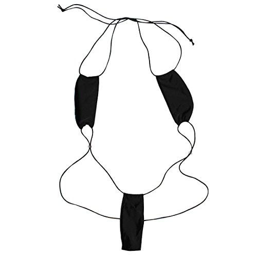 iiniim Mujer Ropa Atractiva Ropa Interior Leotardo Bikini Traje De Baño Para Las Mujeres 8 colores Negro