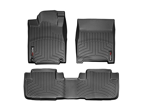 Exl Set - 2012-2016 Honda CR-V Weathertech Floor liners-full Set (1st and 2nd Row) Fits EX-L Touring Models Only- Black
