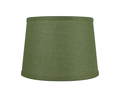 Palm Buffet Table Lamp - Urbanest French Drum Burlap Lampshade, 12-inch by 14-inch by 10-inch, Khaki Green